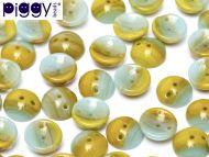 P-S0860 Opaque Caramel/Turquoise Piggy Beads