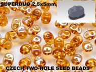 SD-00030/22501 Crystal Celsian SuperDuo Beads
