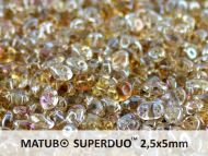 SD-00030/22901 Crystal Clarite SuperDuo Beads