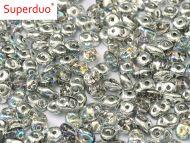 SD-00030/98530 Crystal Rainbow Silver SuperDuo Beads