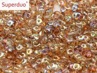 SD-00030/98532 Crystal Rainbow Brown SuperDuo Beads