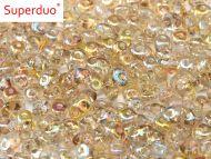 SD-00030/98534 Crystal Rainbow Lemon SuperDuo Beads