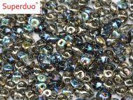 SD-00030/98537 Crystal Rainbow Graphite SuperDuo Beads