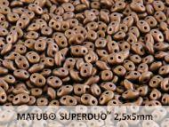 SD-23980/84415 Antique Bronze Matt SuperDuo Beads * BUY 1 - GET 1 FREE *