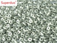 SD-27070 Labrador Full (Silver) Matte SuperDuo Beads
