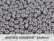 SD-29403 Metallic Matt Steel SuperDuo Beads * BUY 1 - GET 1 FREE *