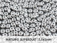 SD-29405 Metallic Matt Silver SuperDuo Beads * BUY 1 - GET 1 FREE *