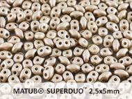SD-29416 Metallic Matt Grey SuperDuo Beads * BUY 1 - GET 1 FREE *