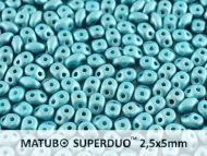 SD-29436 Metallic Matt Blue Turquoise SuperDuo Beads * BUY 1 - GET 1 FREE *