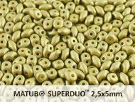 SD-29482 Metallic Matt Olivine SuperDuo Beads * BUY 1 - GET 1 FREE *