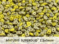 SD-83120/26471 Fool's Gold Opaque Matt Lemon SuperDuo Beads * BUY 1 - GET 1 FREE *