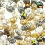 SD-MIX0143 Moonstone Mix SuperDuo Beads * BUY 1 - GET 1 FREE *