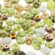 SD-MIX0151 Key Lime Pie SuperDuo Beads * BUY 1 - GET 1 FREE *