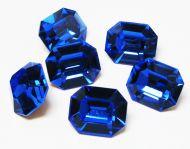 PO12 Sapphire Octagon 12x10 mm Preciosa - 2 x * BUY 1 - GET 1 FREE *