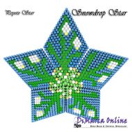 Tutorial Snowdrops 3D Peyote Star + Basic Tutorial Little 3D Peyote Star (download link per e-mail)