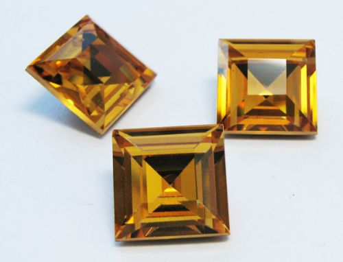 SQ12 Beach Topaz (HYT) Square 12 mm Preciosa