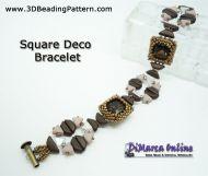 Free Pattern Square Deco Bracelet - DiMarca Online Exclusive