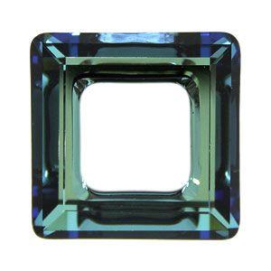 4439 Crystal Bermuda Blue Square Ring 14 mm Swarovski
