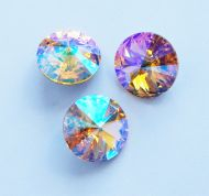 1122 Sunflower Glacier Blue Rivoli 14 mm Swarovski