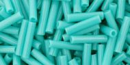 TB-03-0055 Opaque Turquoise Bugle # 3 Toho * BUY 1 - GET 1 FREE *
