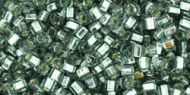 TC-01-0029B Silver-Lined Gray Cube 1.5x1.5 Toho * BUY 1 - GET 1 FREE *