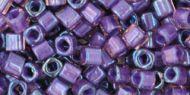 TC-03-0928 Inside-Color Rainbow Rosaline/Opaque Purple Lined Cube 3x3 Toho * BUY 1 - GET 1 FREE *