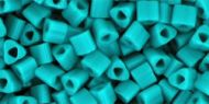 TG-08-0055 Opaque Turquoise Triangle 8/0 Toho * BUY 1 - GET ONE FREE *