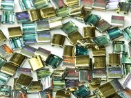 TL-00030/98536 Crystal Rainbow Gold Tila Miyuki