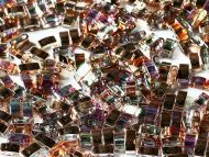 TLH-00030/98533 Crystal Rainbow Copper Tila Half Miyuki