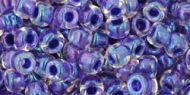 TR-06-0181 Inside-Color Rainbow Crystal/Tanzanite Lined 6/0 Toho