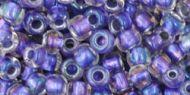 TR-06-0265 Inside-Color Rainbow Crystal/Metallic Purple Lined 6/0 Toho