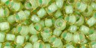 TR-06-0945 Inside-Color Jonquil/Mint Julep Lined 6/0 Toho