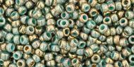 TR-11-1703 Gilded Marble Turquoise 11/0 Toho
