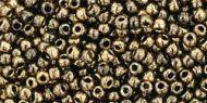 TR-11-1706 Gilded Marble Black 11/0 Toho