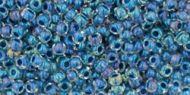 TR-11-0188 Inside-Color Luster Crystal/Capri Blue Lined 11/0 Toho