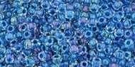 TR-11-0189 Inside-Color Luster Crystal/Caribbean Blue Lined 11/0 Toho