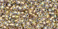 TR-11-0262 Inside-Color Crystal/Gold Lined 11/0 Toho