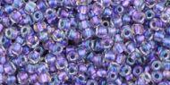 TR-11-0265 Inside-Color Rainbow Crystal/Metallic Purple Lined 11/0 Toho