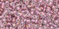 TR-11-0267 Inside-Color Crystal/Rose Gold Lined 11/0 Toho