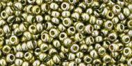 TR-11-0457 Gold-Lustered Green Tea 11/0 Toho