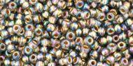 TR-11-0999 Gold-Lined Rainbow Black Diamond 11/0 Toho