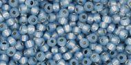 TR-06-PF2102 Permanent Finish - Silver-Lined Milky Montana Blue 6/0 Toho