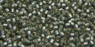 TR-11-0029F Silver-Lined Frosted Light Black Diamond 11/0 Toho