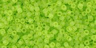 TR-15-0004F Transparent-Frosted Lime Green 15/0 Toho