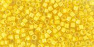TT-01-0192 Inside-Color Crystal/Yellow Cinnabar Lined Treasure 11/0 Toho