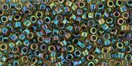TT-01-0245 Inside-Color Rainbow Jonquil/Jet Lined Treasure 11/0 Toho