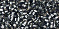 TT-01-0029B Silver-Lined Gray Treasure 11/0 Toho