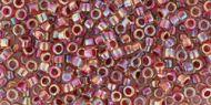 TT-01-0771 Inside-Color Rainbow Crystal/Strawberry Lined Treasure 11/0 Toho