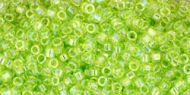TT-01-0164 Trans-Rainbow Lime Green Treasure 11/0 Toho