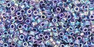 TT-01-0776 Inside-Color Rainbow Aqua/Purple Lined Treasure 11/0 Toho